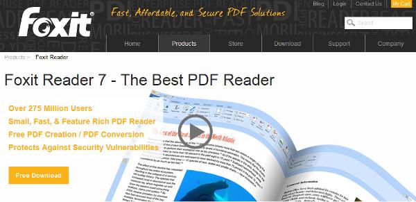 Вышла новая версия PDF-ридера Foxit Reader 7