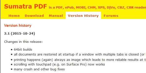 Sumatra PDF 3.1 — 64-битная версия и печать PDF в виде картинки